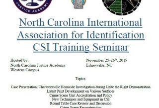 north carolina international association CSI seminar flyer
