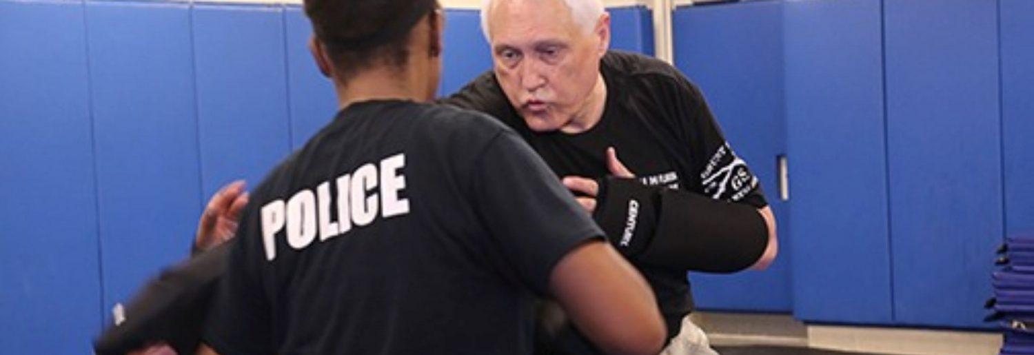 officers training hand-to-hand combat