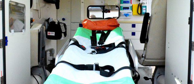inside of ambulance