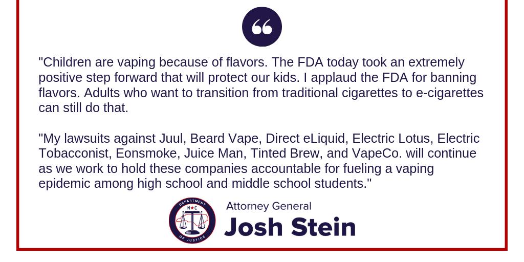 FDA Vaping Statement